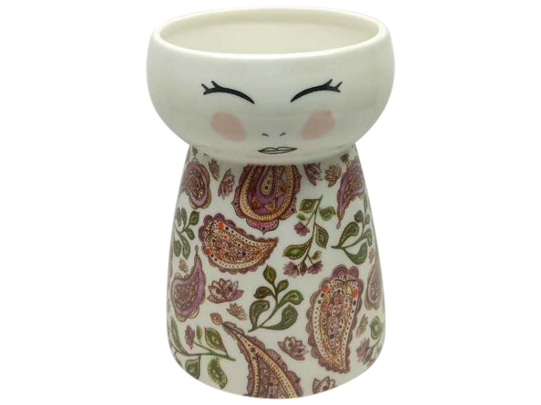 Doll Vase Pretty Paisley
