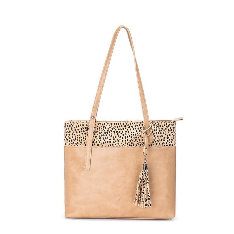 Zara Sand/Leopard Bag