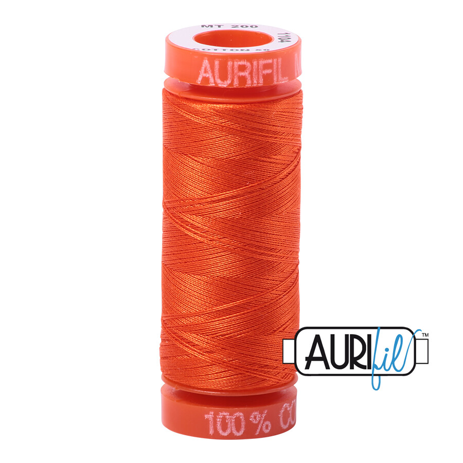 Aurifil Cotton Thread - Neon Orange
