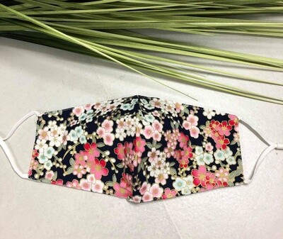 Mask Floral Hot Pink