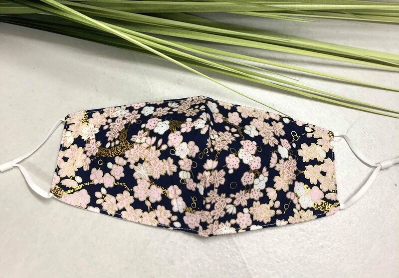 Mask  Floral Navy
