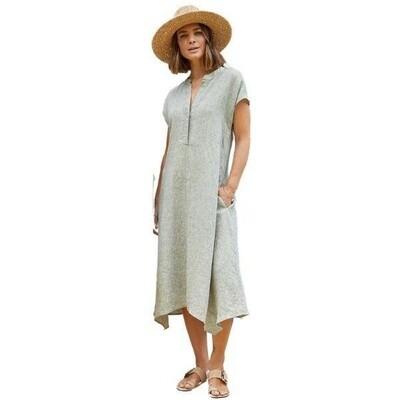Drop Shoulder Dress Sage