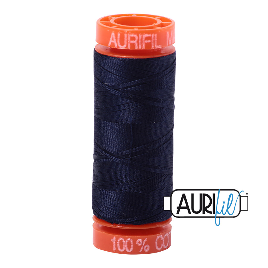 Aurifil Cotton Thread - Very Dark Navy
