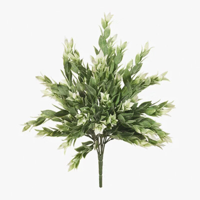 Ruscus Bush - Grey White 40cm