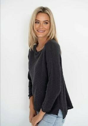 Sofia Sweater Charcoal