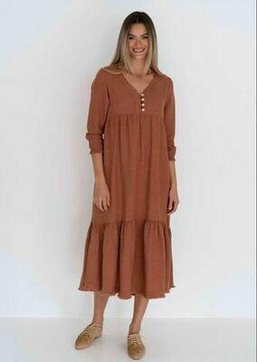 Nina Dress Cinnamon