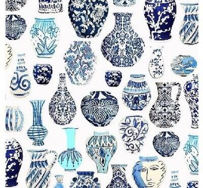 Tea Towel Blue Vases