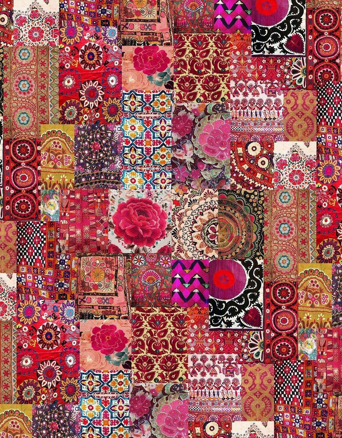 Velvet Throw Pink Embroidery