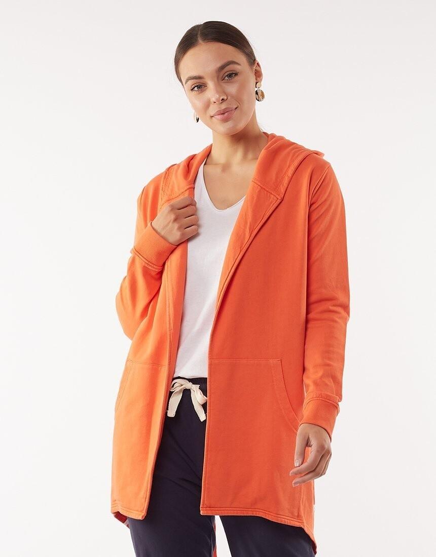 Composure Hooded Cardi Orange