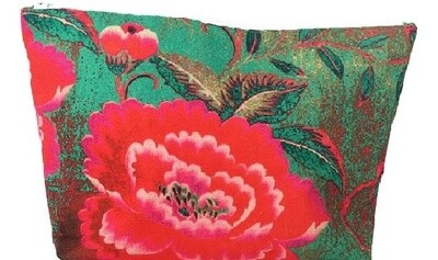 Canvas Make Up Bag Chinese Peony