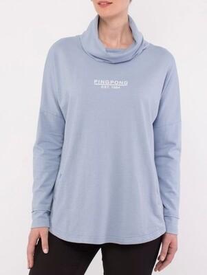 Cowl Neck Sweater Cornflower
