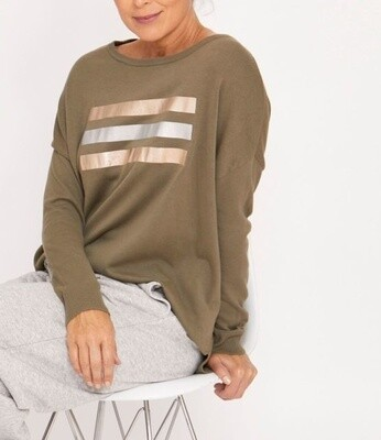 Relaxed Pullover Khaki