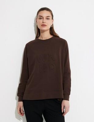 Embossed Sweater Chocolate
