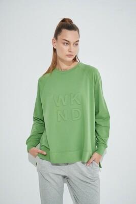 Embossed Sweater Meadow Green