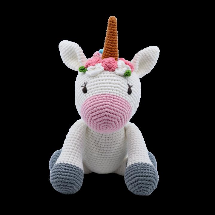 Medium Sitting Toy - Unicorn White