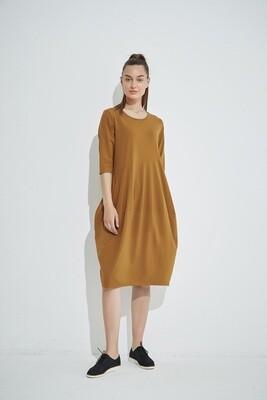 Diagonal Seam Dress Mocha