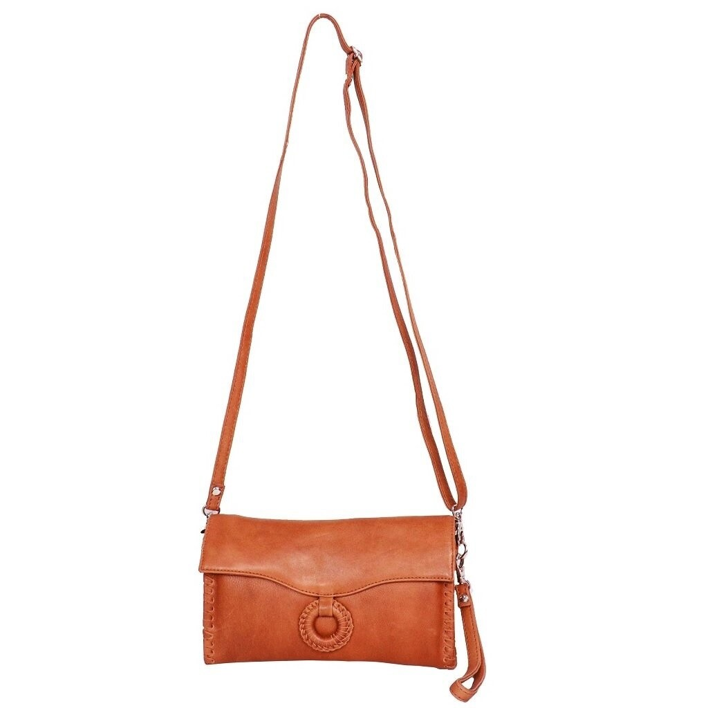 Leather Wallet/Crossbody Bag Tan