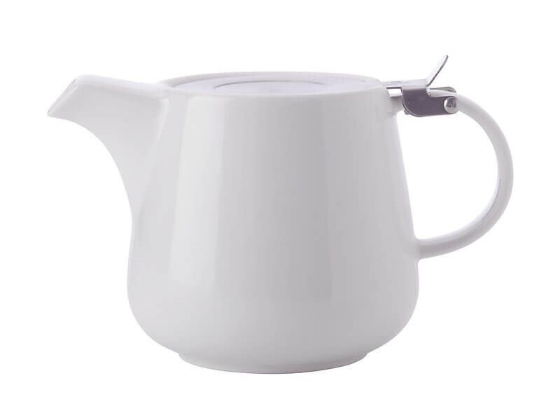 White Basics Teapot with Infuser 1.2L White