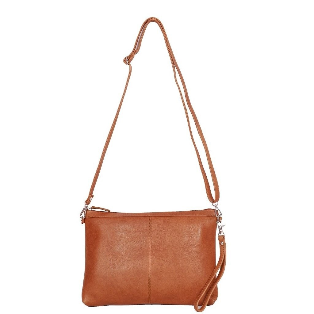 Washed Leather Crossbody Bag Tan