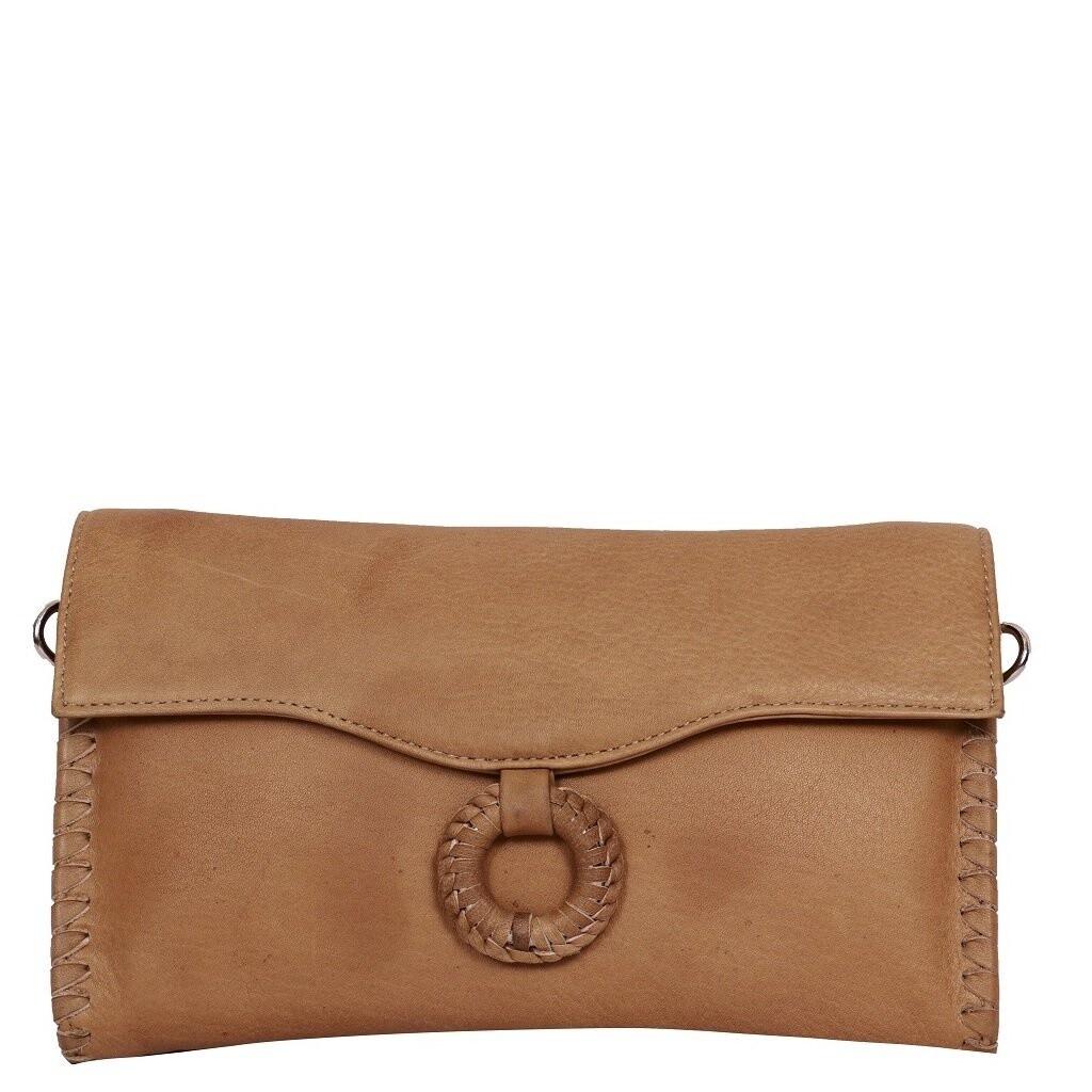 Leather Wallet/Crossbody Bag Camel