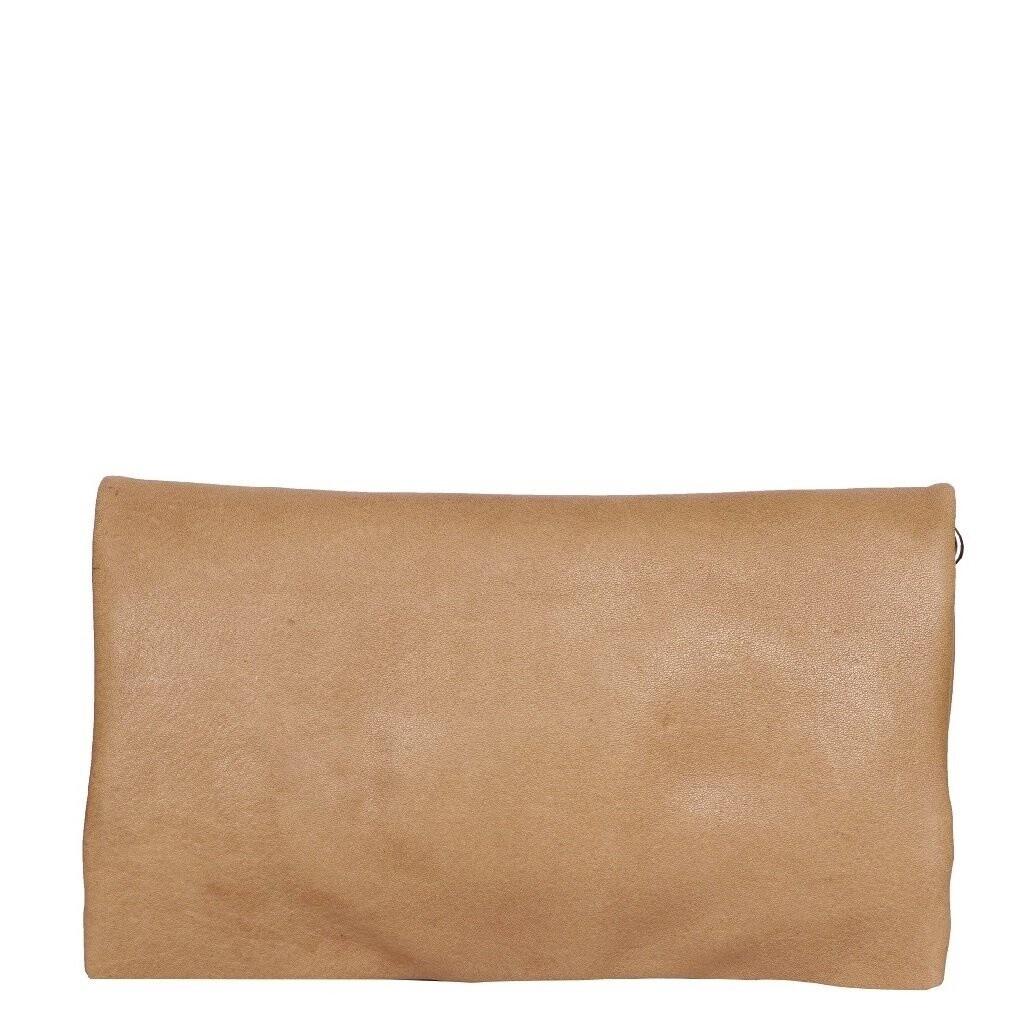 Washed Leather Wallet Camel
