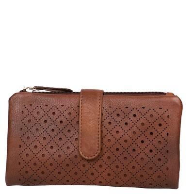Ladies Wallet Diamond Brown