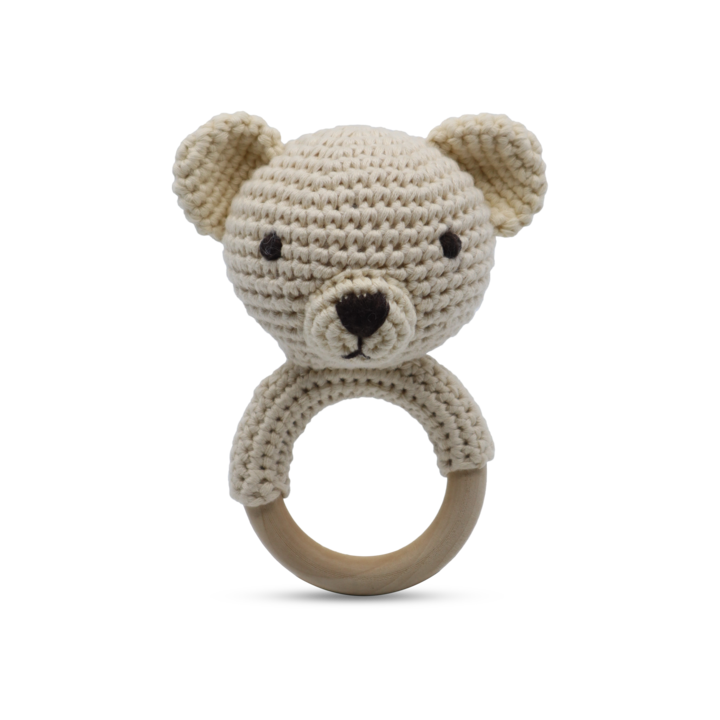Shaker Ring Toy - Teddy