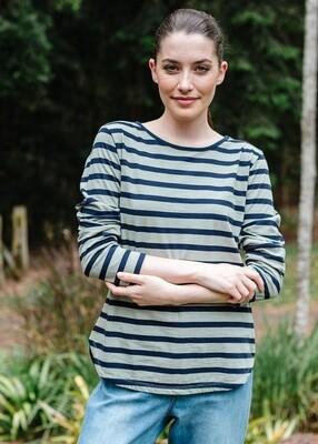 Long Sleeve Tee Navy/Khaki