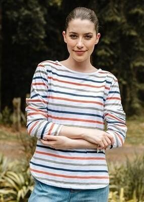 Long Sleeve Tee Multi Stripe
