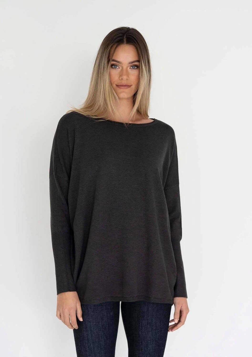Rosie Top Charcoal