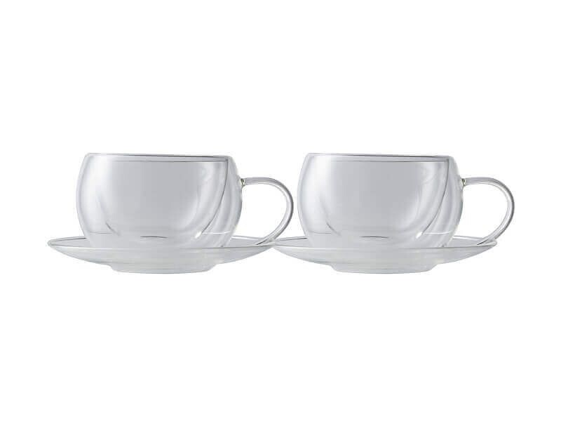 Blend Double Wall Cup & Saucer 270ML Set of 2