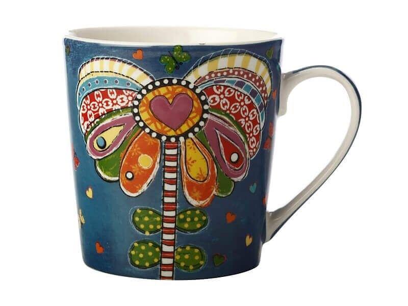 Donna's Garden Mug 350ML Playful Poppy