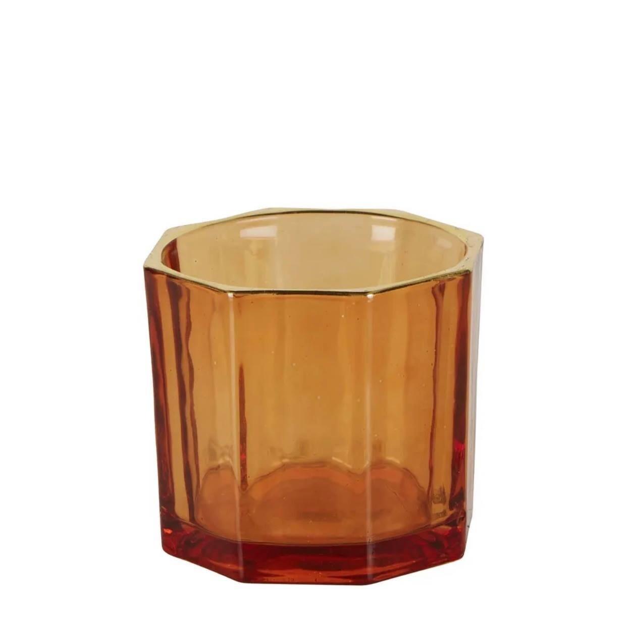 Gatsby Glass Tealight Amber