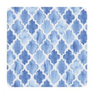 Soph Hamptons Tiled Shibori Coaster