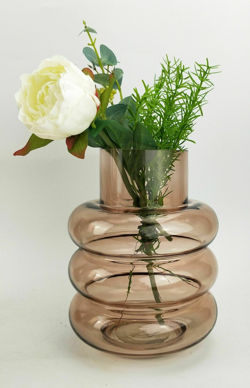 Tommy Ring Glass Rose Vase Medium
