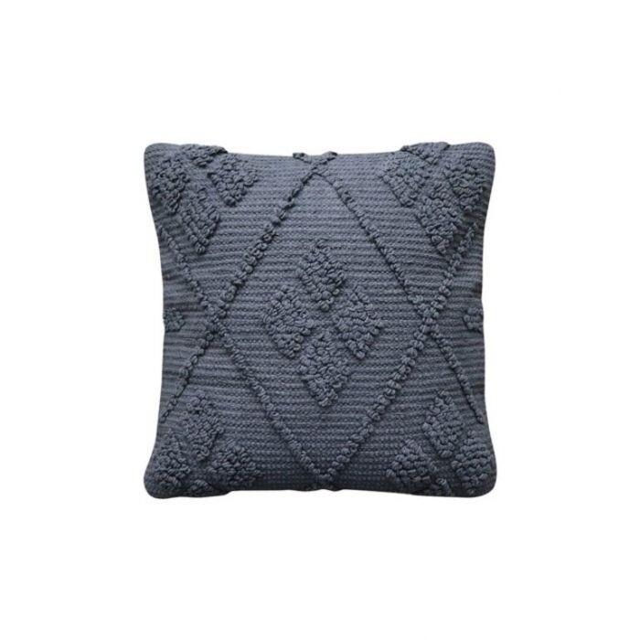 Lisbon Diamond Charcoal Cushion 50cm