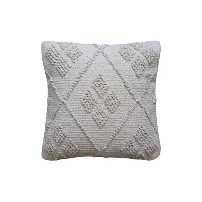 Lisbon Diamond Off-White Cushion 50cm