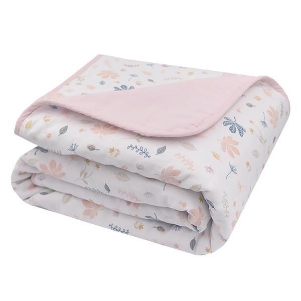 Organic Muslin Cot Blanket - Botanical