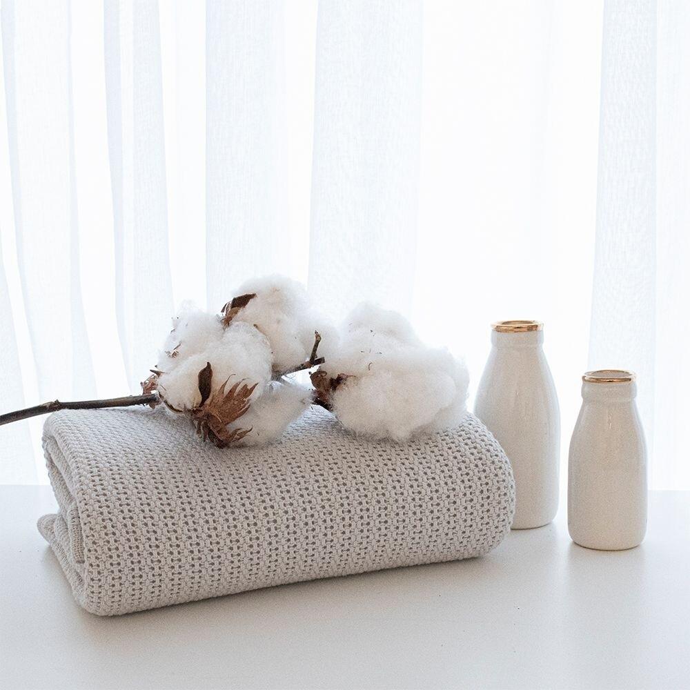 Organic Cradle/Bassinet Cell Blanket Grey