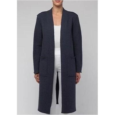 Boiled Wool Coat Slate