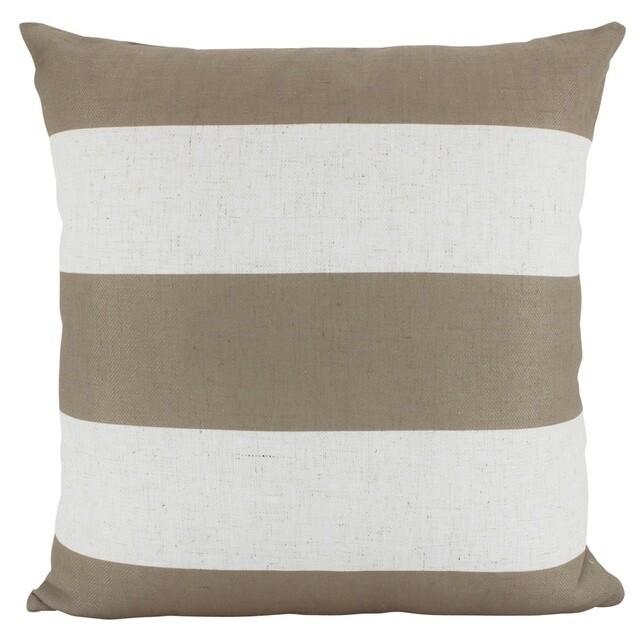 Linen Stripe Latte Cushion