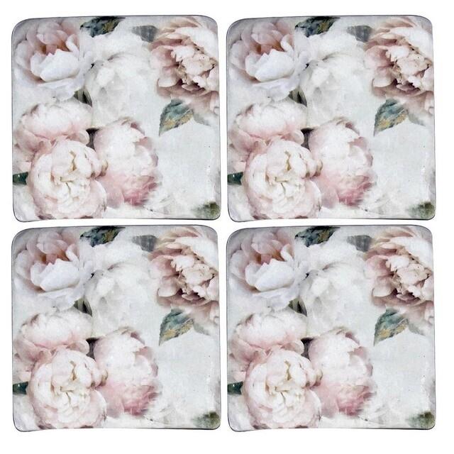 Vintage Roses Resin Coaster S/4
