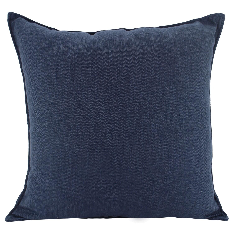 Linen Navy Cushion 55cm