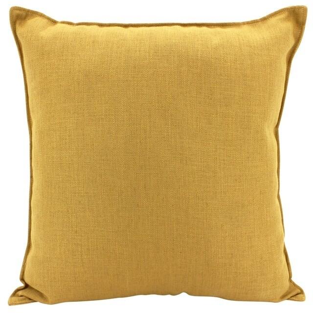 Linen Mustard Cushion 55cm