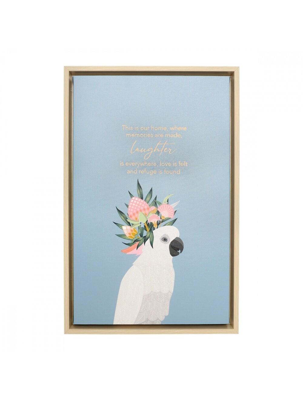 Botanica Laughter Framed Canvas