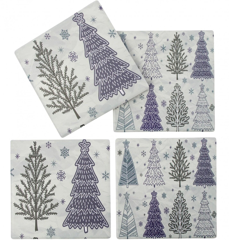 Christmas Coasters Lilac & Sage