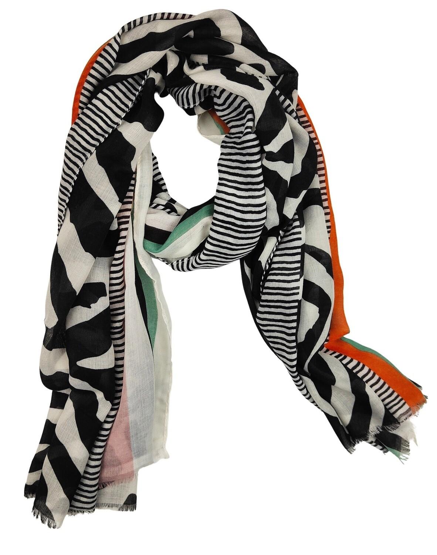 Scarf Ezra Black & White
