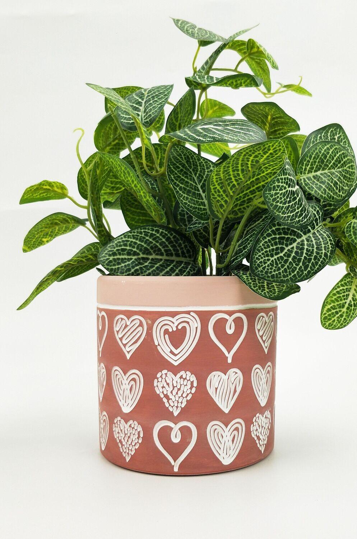 Love Sketch Planter Dark Pink