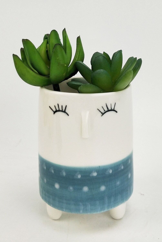 Gemma Face Planter Dusty Blue