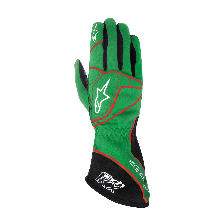Guanti Alpinestars Tech 1-KX Verde/Rosso